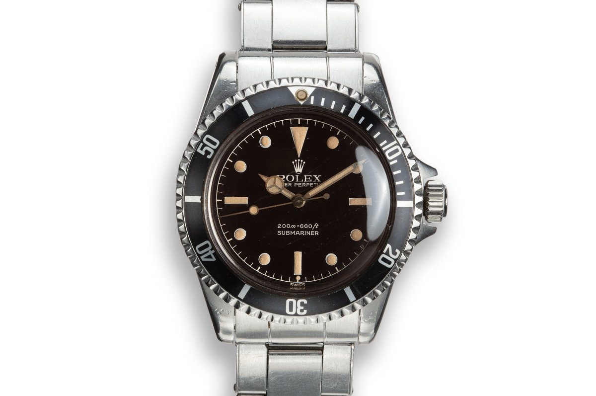 1961 Pointed Crown Guard Submariner 5512 With Gilt Chapter Ring Exclamation Dial photo, #0