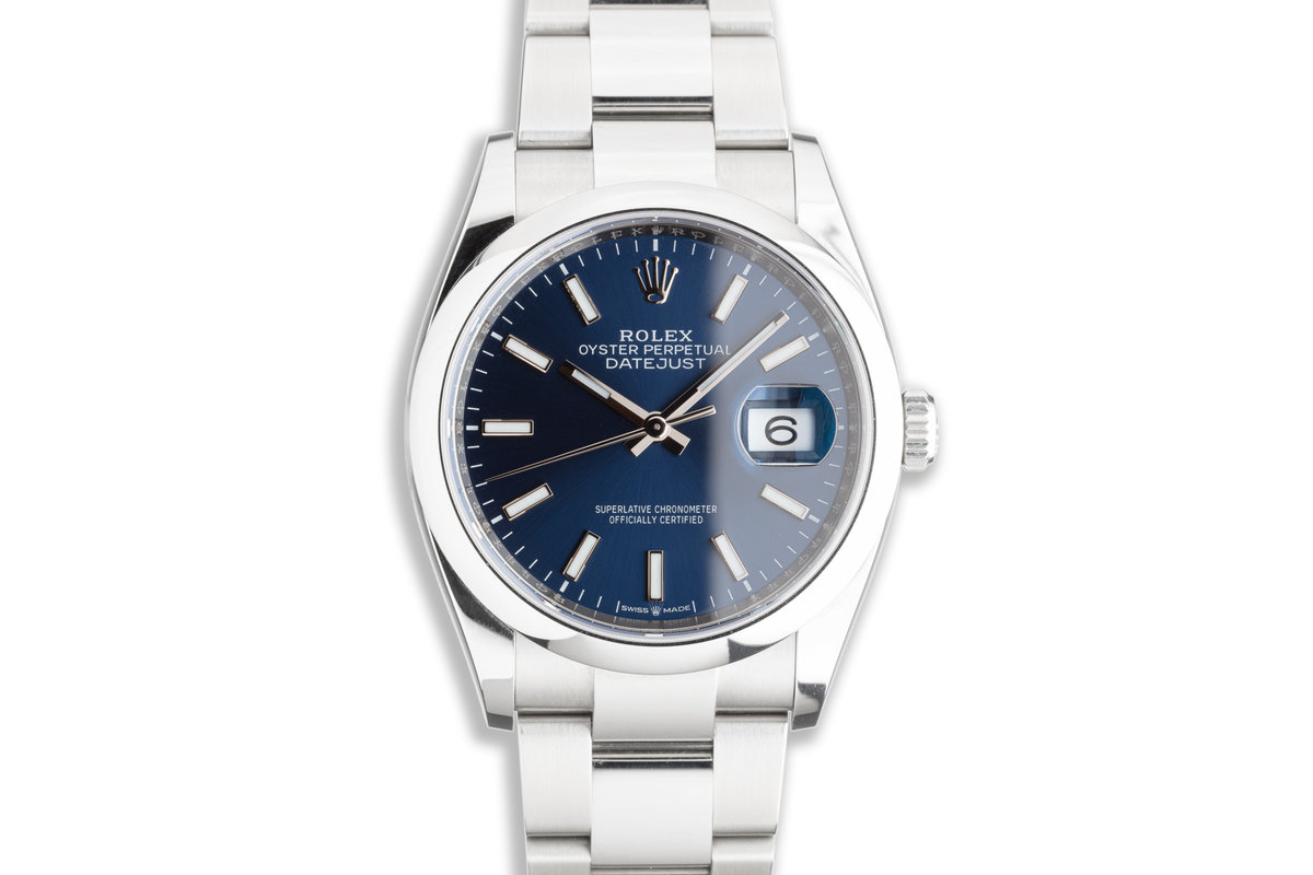 2021 Rolex Datejust 126200 Blue Dial with Box & Card photo, #0