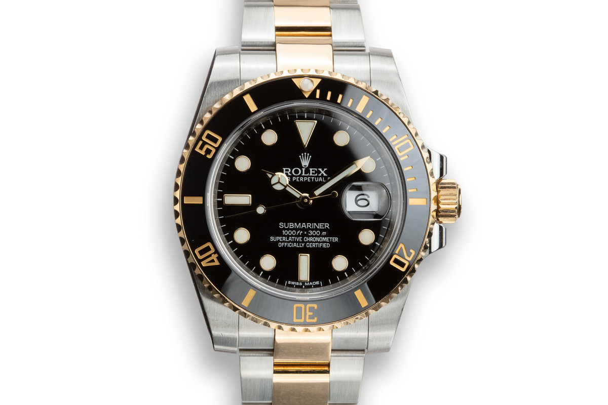 2014 Rolex Two-Tone Submariner 116613LN with Box and Papers photo, #0