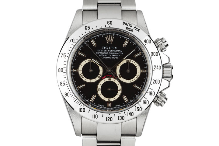 1999 Rolex Zenith Daytona 16520 Black Dial with Box and Papers photo