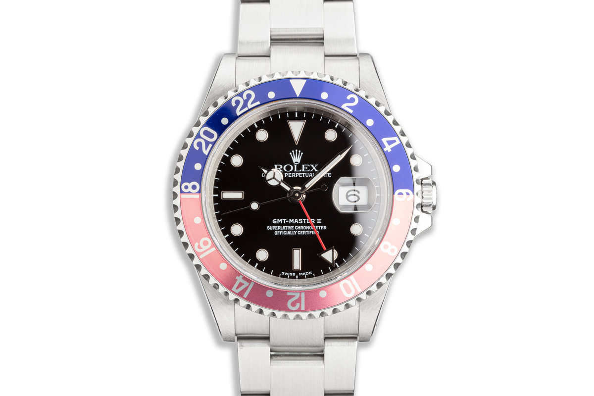 """2000 Rolex Unpolished GMT-Master II 16710 """"Pepsi"""" Box & Papers photo, #0"""