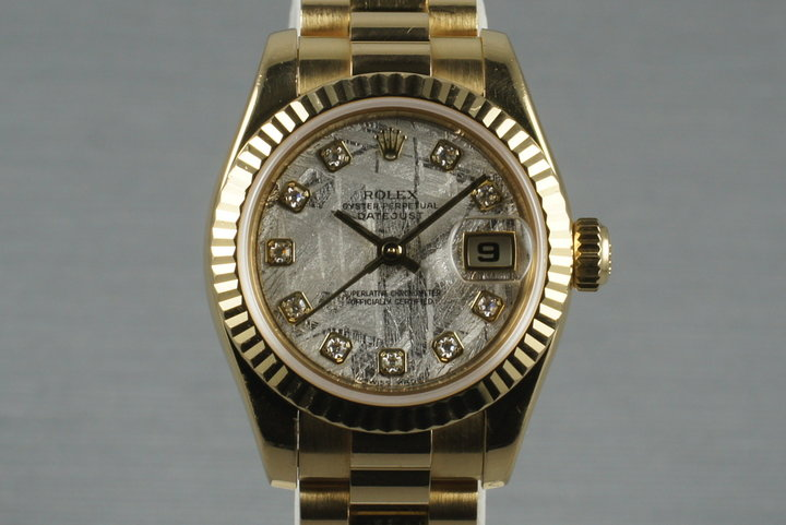 2003 Rolex Ladies DateJust 179178 w/ Meteorite Diamond Dial  Box Papers photo