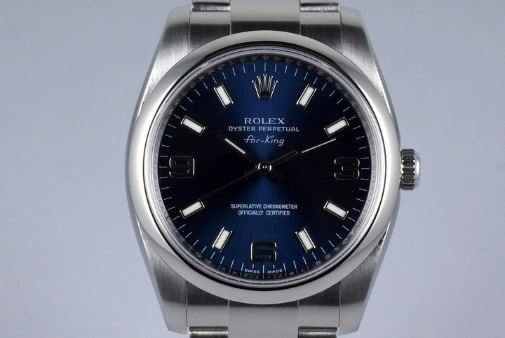 2010 Rolex Air King 114200 with Box and Papers photo