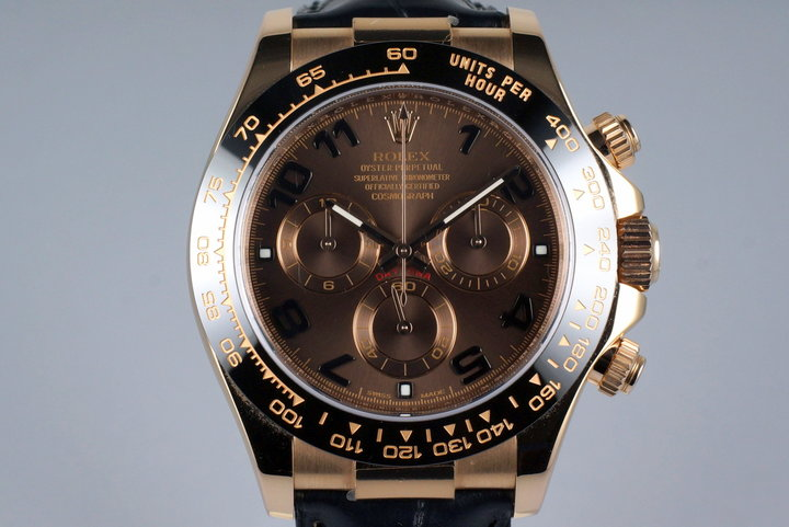 2013 Rolex RG Daytona 116515 Chocolate Arabic Dial with Box and Papers photo