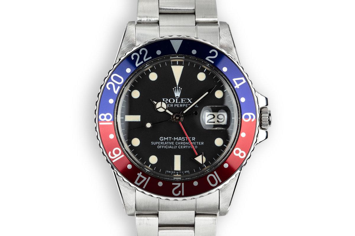 """1981 Rolex GMT-Master 16750 """"Pepsi"""" photo, #0"""