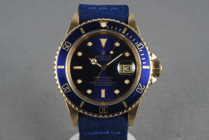1990 Rolex Submariner 16618 with Blue Dial photo