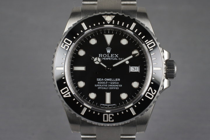 2014 Rolex Ceramic Sea Dweller 116600 with Box and Papers MINT photo