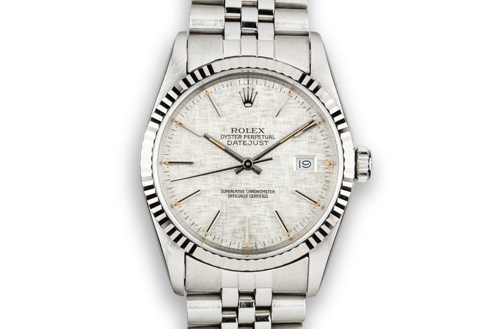 1988 Rolex DateJust 16234 Silver Linen Dial photo