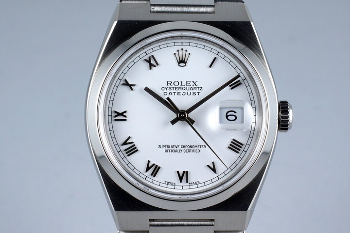 2001 Rolex OysterQuartz DateJust 17000 with Box and Papers FULL SET photo