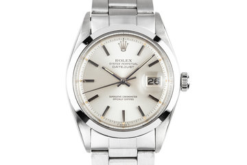 1972 Rolex DateJust 1600 Silver Dial photo