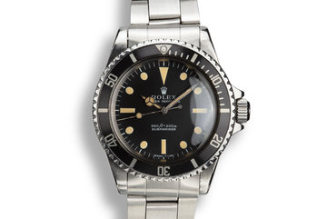 1970 Rolex Submariner 5513 with Serif Dial photo