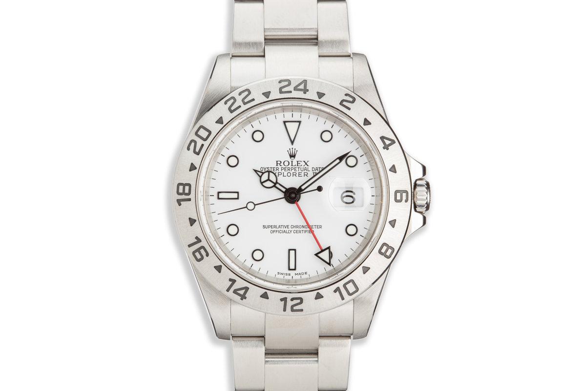 """2004 Rolex Explorer II 16570 """"Polar"""" White Dial photo, #0"""