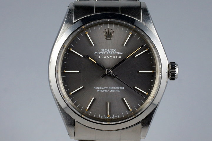 1971 Rolex Oyster Perpetual 1002 Gray Tiffany & Co. Dial photo