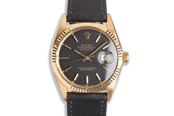 1967 Vintage Rolex 18K Yellow Gold DateJust 1601 photo