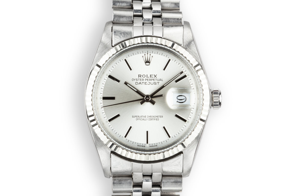 1968 Rolex DateJust 1601 with Silver Service Dial photo, #0