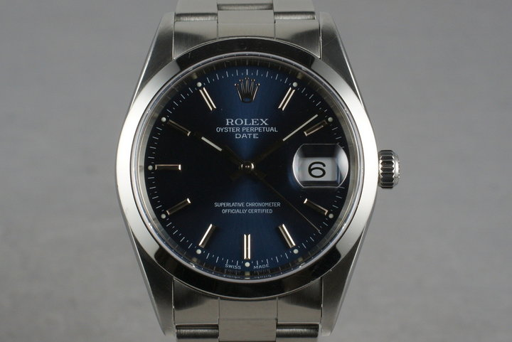1998 Rolex Blue Dial Date Ref: 15200 photo
