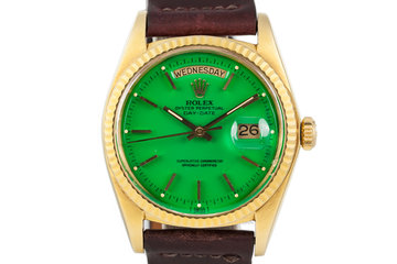 1972 Rolex Day-Date 1803 with Green Stella Dial photo
