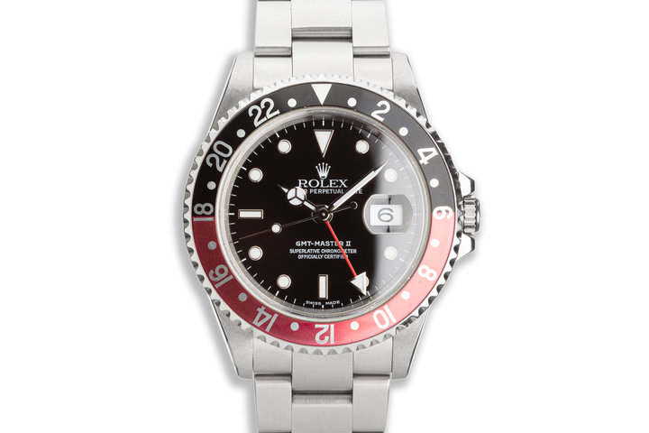 """2000 Rolex GMT-Master II 16710 """"Coke"""" Bezel with Box & Papers photo"""