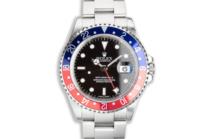 2003 Rolex GMT-Master II 16710 with Box & Papers photo