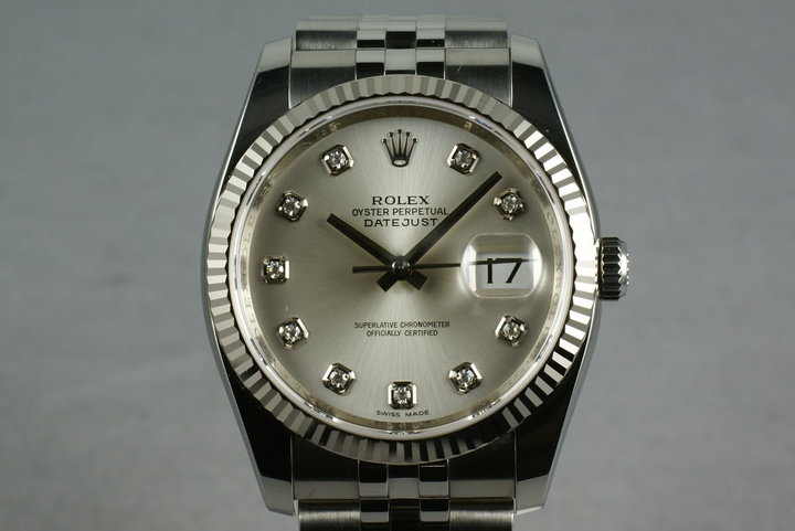 Rolex Modern Datejust Ref: 116234 Diamond Dial photo