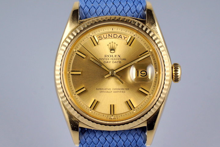 1970 Rolex YG Day-Date 1803 Champagne 'Wide Boy' Dial photo