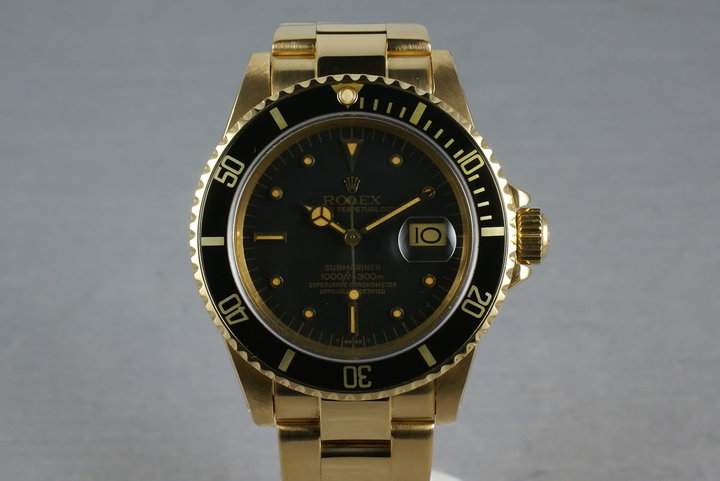 Submariner 18K 16808 Black Nipple Dial with Recent RSC Service photo