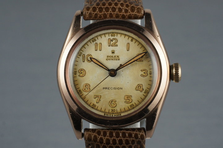 1944 Rolex Rose Gold Oyster Precision 3121 photo