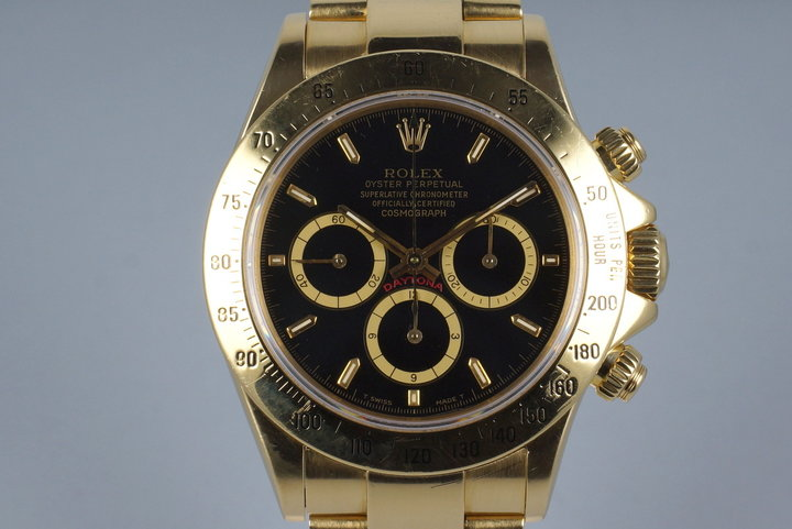 1989 Rolex YG Zenith Daytona 16528 photo