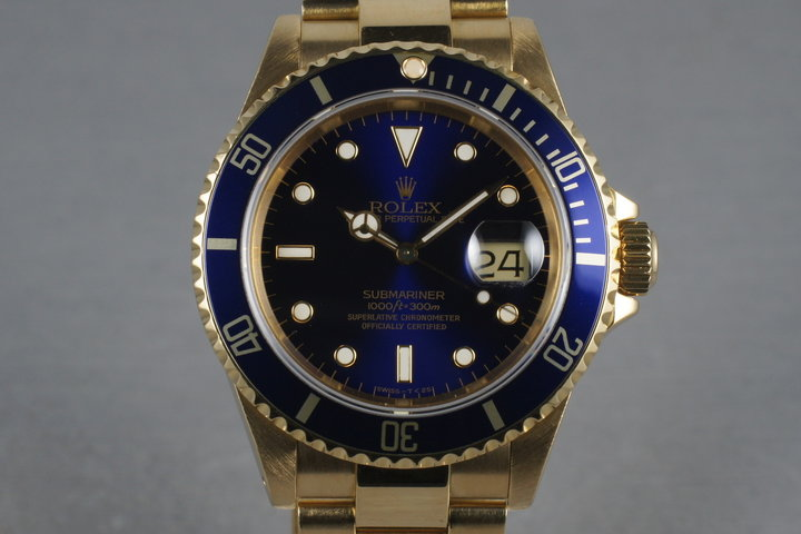 Rolex Submariner 16618 with Blue Dial photo