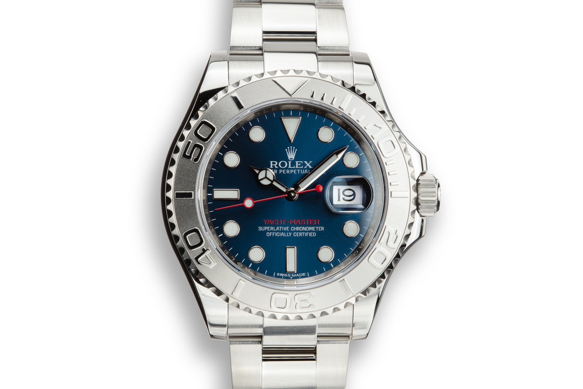 2017 Rolex Yacht-Master 116622 Blue Dial with Box and Papers photo, #0
