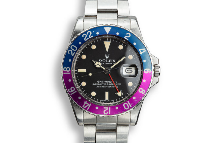 1967 Rolex GMT-Master 1675 Fuchsia with Box and Papers photo