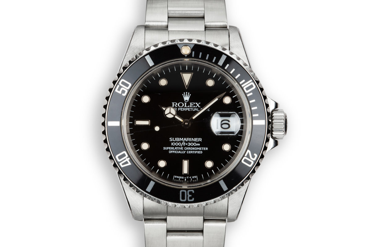 1995 Rolex Submariner 16610 with Box and Papers photo, #0
