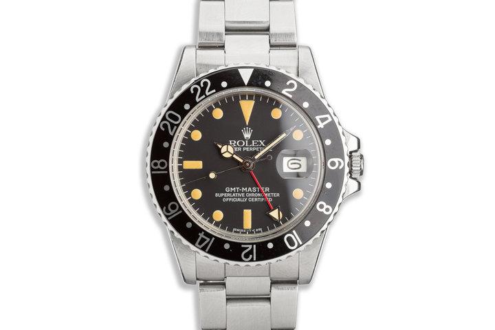 1979 Vintage Rolex GMT-Master 1675 Black Bezel photo