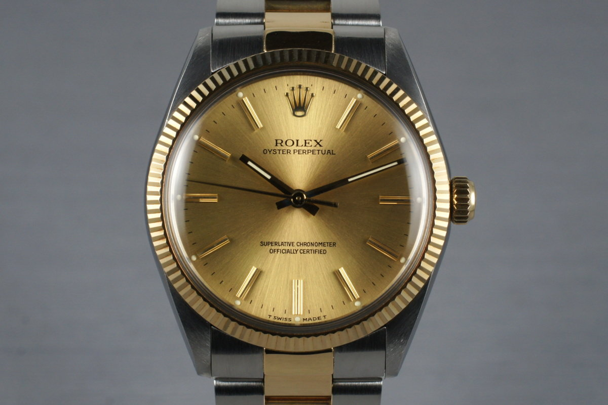 1988 Rolex Two Tone Oyster Perpetual 1005 with Box and Papers photo, #0