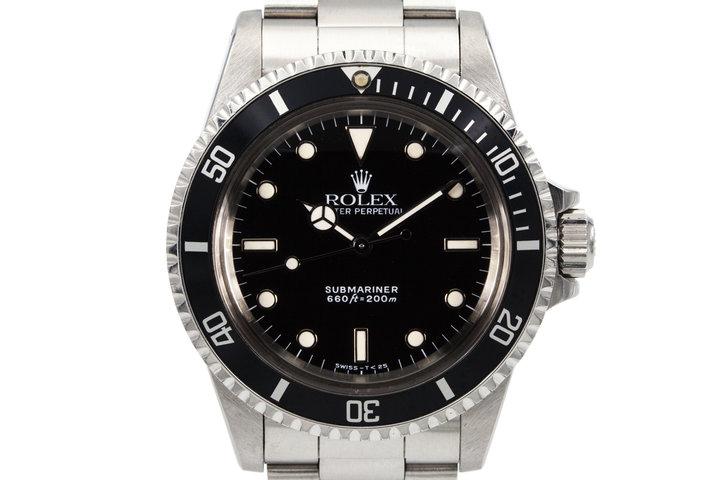 """1989 Rolex Submariner 5513 """"L serial"""" photo"""