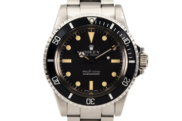 1978 Rolex Submariner 5513 Serif Dial photo