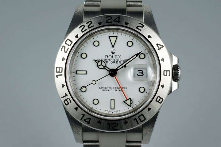 2009 Rolex Explorer II 16570T with Box and Papers with 3186 Movement photo