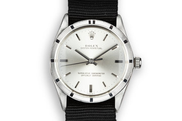 1967 Rolex Oyster Perpetual 1007 Silver Dial photo