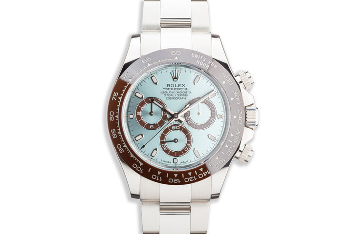 2019 Rolex Platinum Daytona 116506 Glacier Blue Dial with Box and Card photo