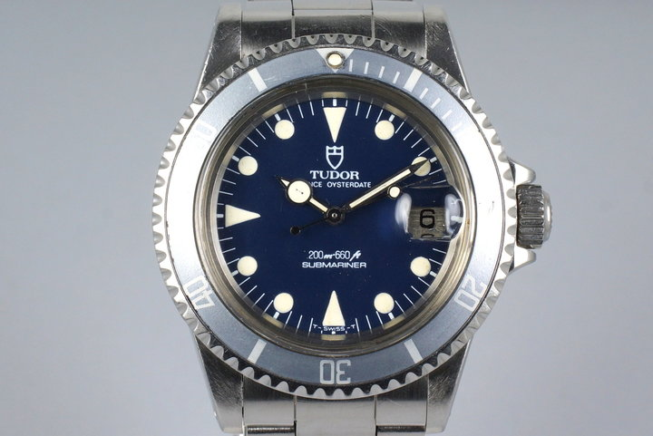 1985 Tudor Blue Submariner 76100 Non-Mercedes Hand photo