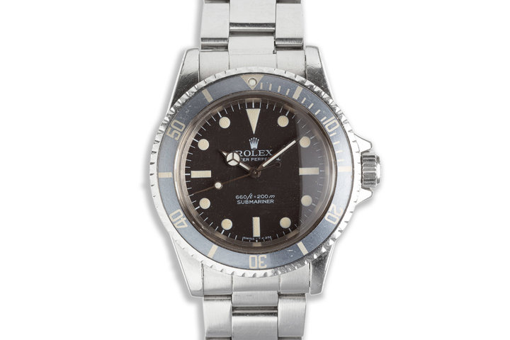 1978 Vintage Rolex Submariner 5513 Gray Bezel with Box & Booklet photo