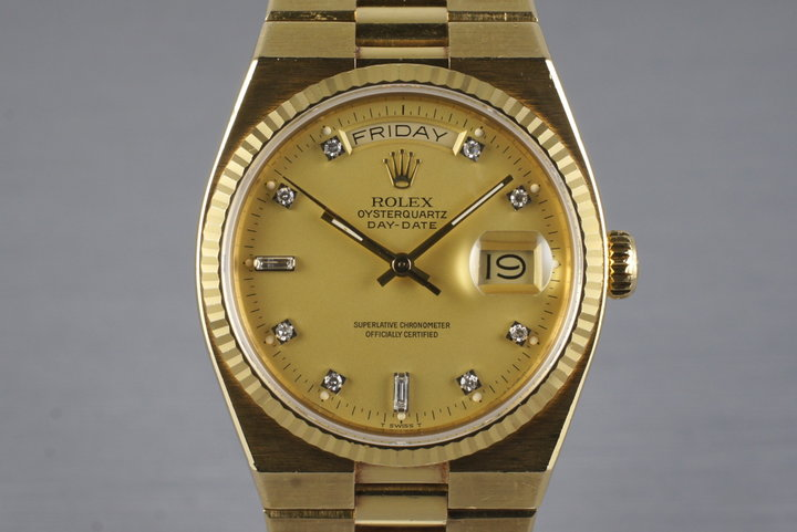 1982 YG OysterQuartz Day-Date 19018 Factory Diamond Dial photo