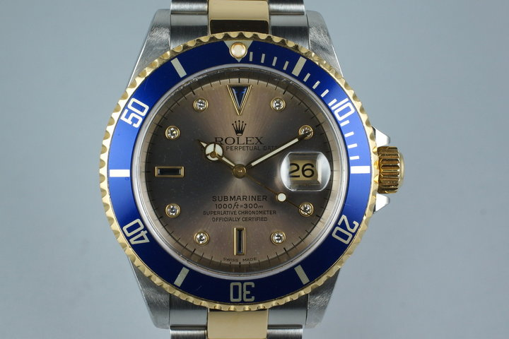 2000 Two Tone Submariner 16613 with Serti Dial photo