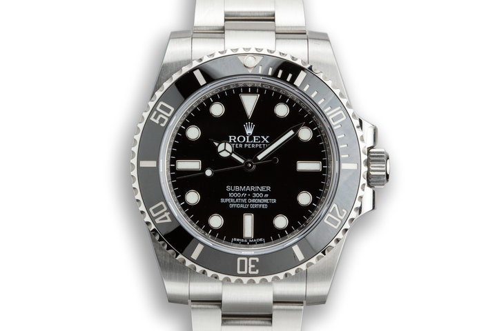 2018 Rolex Submariner 114060 with Box and Papers photo