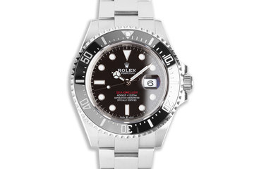 2020 Rolex 43mm Red Sea-Dweller 126600 with Box & Card photo