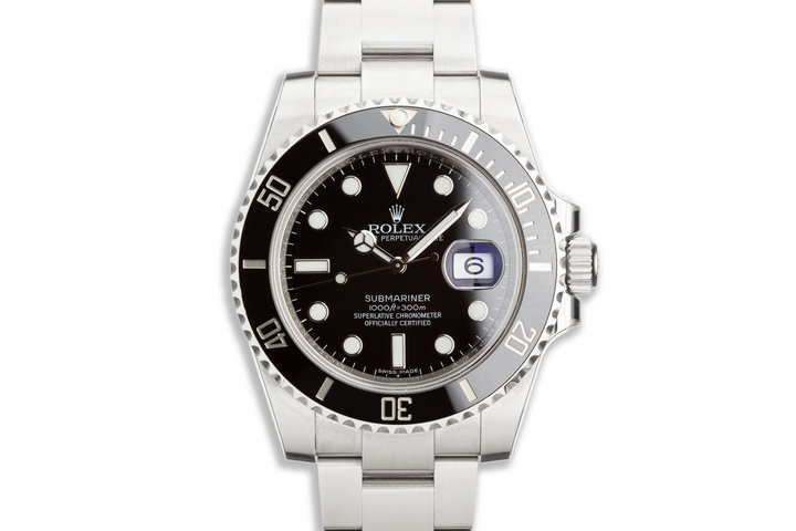 Stickered 2016 Rolex Ceramic Submariner 116610LN with Box and Card photo