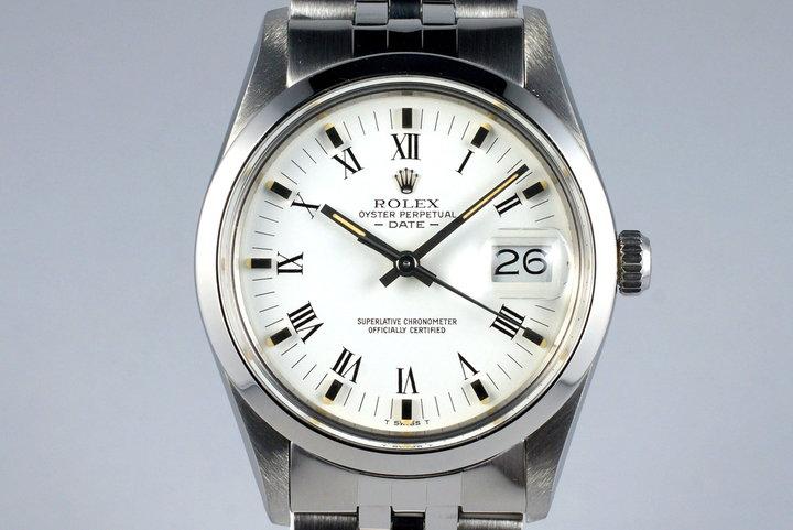 1982 Rolex Date 15000 White Roman Dial photo