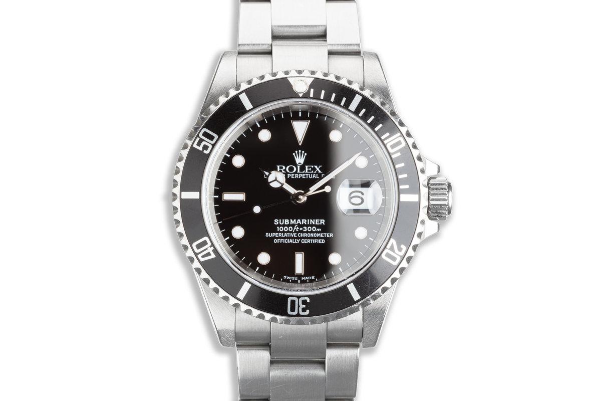 2000 Rolex Submariner 16610 with Hangtag photo, #0