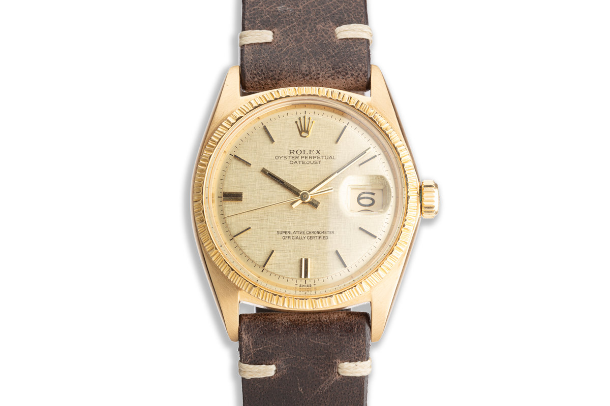 1970 Vintage Rolex YG DateJust 1607 with Box & Papers photo, #0