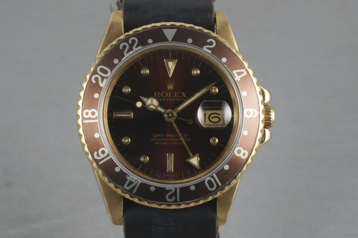 GMT 18K with Root Beer Nipple Dial  16758 photo, #0